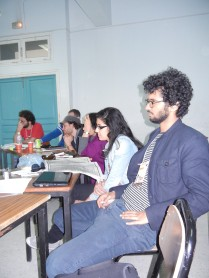Workshop on Egyptian constitution; audience; 28 March 2013; photo by Frances Hasso