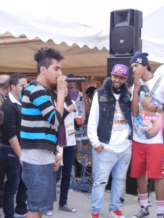 North African rappers at the World Social Forum; 28 March 2013; photo by Frances Hasso