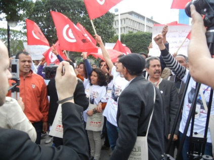 Tunisian opposition forces; 26 March 2013, Tunis, photo by Frances Hasso