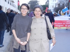 Rifqa and Dalila; 26 March 2013, Tunis; photo by Frances Hasso